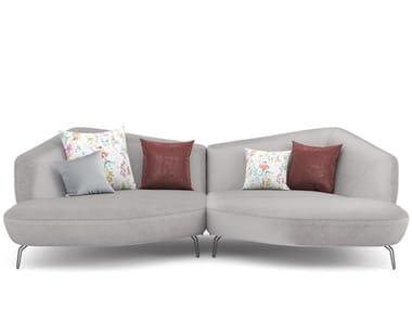 Sectional fabric sofa ARECA | Sofa