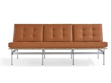 Tufted 3 seater leather sofa 416 | Sofa