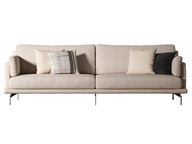 4 seater fabric and nabuk sofa COCOON | Nabuk sofa