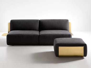 Fabric sofa with brass structure LOOM | Sofa