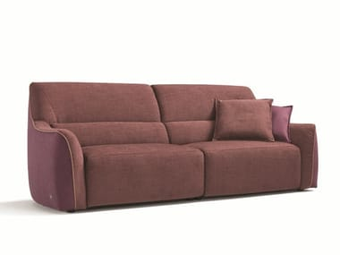 Recliner relaxing 3 seater fabric sofa PUFFY | Sofa