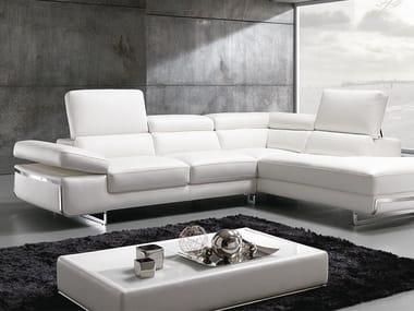 Corner sofa with chaise longue LIVE | Corner sofa