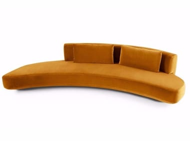 Curved upholstered sofa AUDREY | Sofa