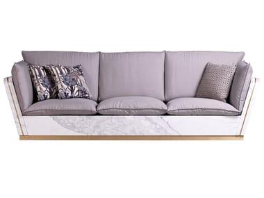 3 seater aluminium sofa MATTIS | Sofa