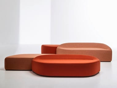 Upholstered modular bench WAVES | Modular bench