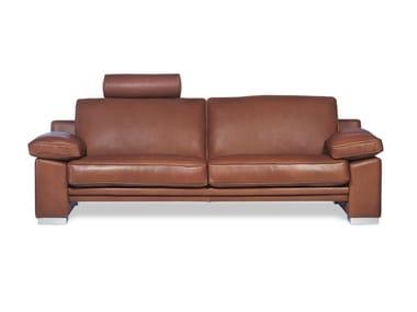 3 seater leather sofa bed MANHATTAN | Sofa