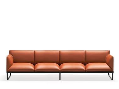 Sled base leather sofa LOFT X | Sofa