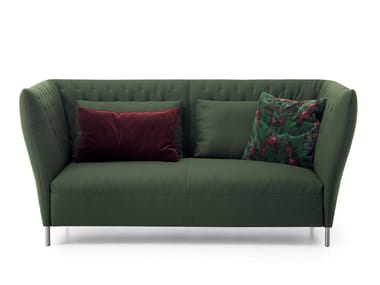 Upholstered 2 seater leisure sofa QUILT | Sofa