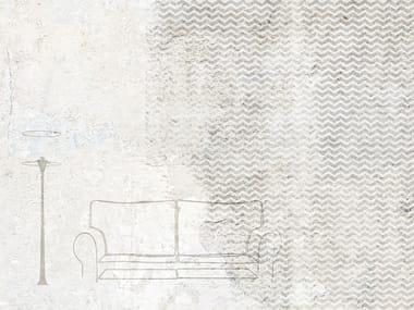 Papel de parede impermeável de fibra de vidro com efeito de parede SOFA