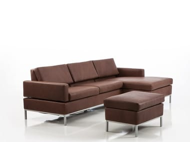 Recliner leather sofa with chaise longue TOMO | Sofa with chaise longue