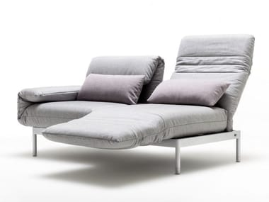Fabric sofa with chaise longue ROLF BENZ 380 PLURA   Sofa with chaise longue