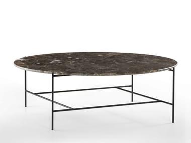 Mesa de centro baixa redonda de mármore SOFIA | Mesa de centro redonda