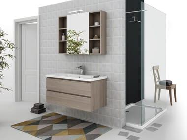 Mobile lavabo sospeso con cassetti SOFT 06