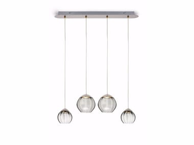 LED glass pendant lamp SOFT 59004 | Pendant lamp