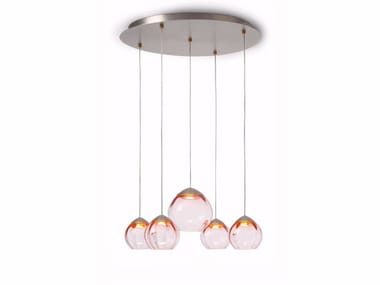 LED glass pendant lamp SOFT 59005 | Pendant lamp