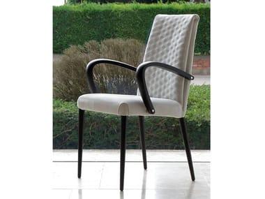 Sedia imbottita in pelle SOFT | Sedia con braccioli