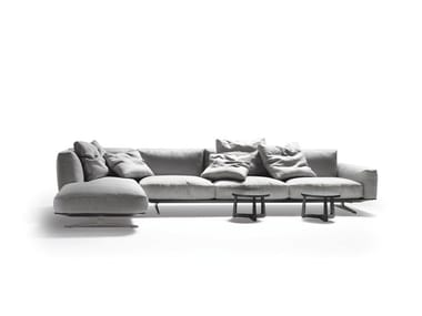 Sectional fabric sofa with removable cover SOFT DREAM | SOFT DREAM LARGE | Sectional sofa