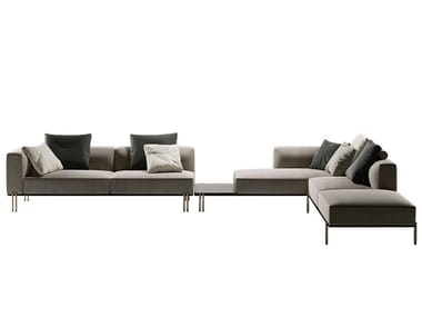Corner sectional leather sofa SOFT RATIO | Corner sofa