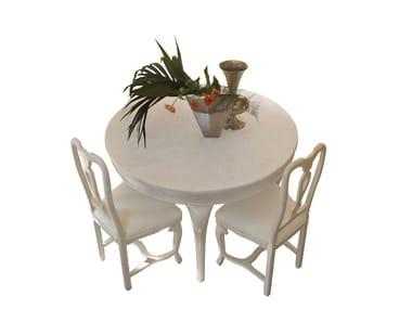 Mesa extensível redonda de madeira SOGNI D'AMORE | Mesa redonda
