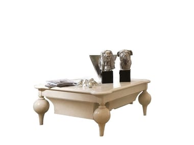 Mesa de centro quadrada de madeira SOGNI D'AMORE | Mesa de centro quadrada