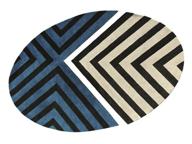 Wool rug with geometric shapes SOL Y SOMBRA