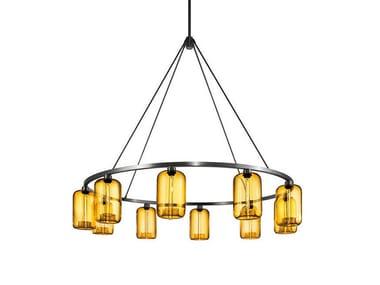 Direct light blown glass chandelier SOLA 60