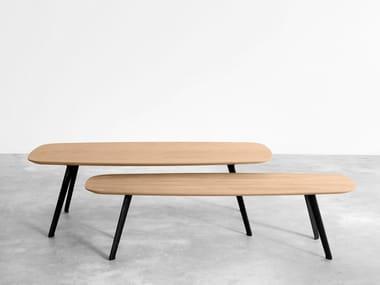Rectangular oak coffee table SOLAPA | Oak coffee table