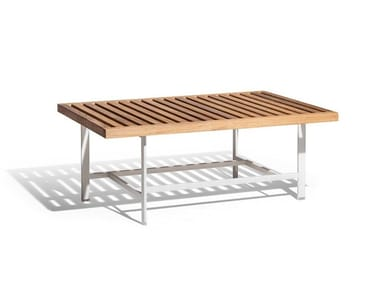 Rectangular teak garden side table SOLARIA | Coffee table