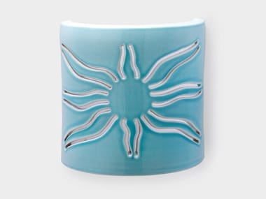 Applique a luce diretta e indiretta in ceramica SOLE
