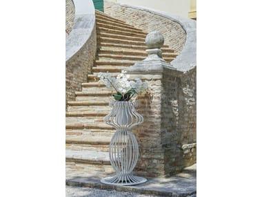 Vaso da giardino alto in ferro SOLE | Vaso da giardino alto