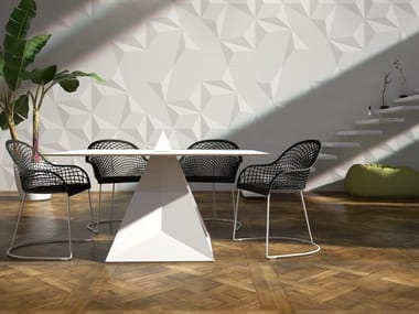 Square Solid Surface table JOIN - INCASTRO PERFETTO | Solid Surface table