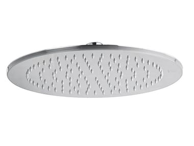 Round stainless steel overhead shower SOLO | Stainless steel overhead shower