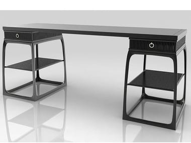 Rectangular Padouk writing desk with drawers SONG STYLE   Writing desk