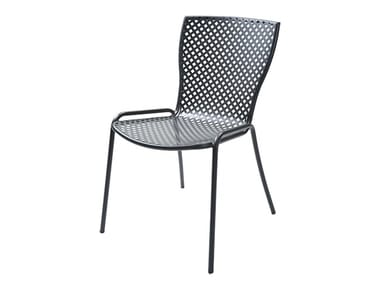 Stackable galvanized steel chair SONIA 1
