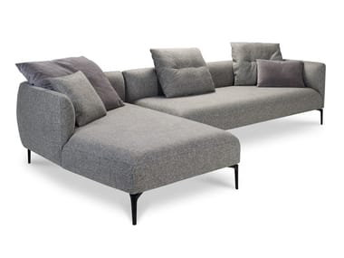 Divano modulare in tessuto con chaise longue SOPHIA LANDSCAPE | Divano con chaise longue