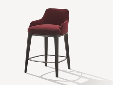 High fabric stool with footrest SOPHIE | Fabric stool