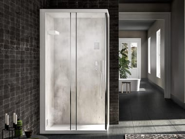 Corner multifunction steam shower cabin SOREHA | Shower cabin