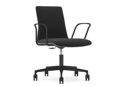 Swivel fabric office chair with castors SORI   Office chair