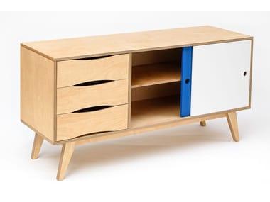 Madia in legno in stile moderno con ante scorrevoli con cassetti SOSIXITIES 2 DOORS
