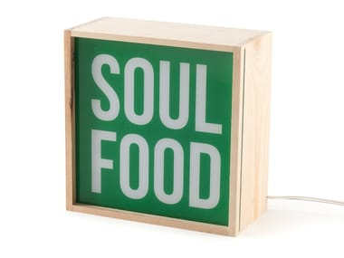 LED wooden table lamp SOUL FOOD