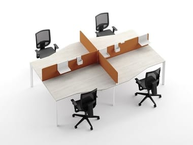Office accessory Sound-absorbing padded partitions