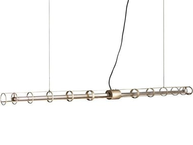 LED brass pendant lamp SPACE
