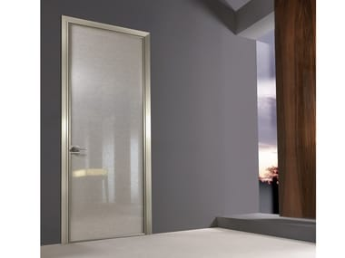 Fabric glass hinged door SPARK | Door