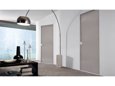 Hinged lacquered glass door SPARK | Lacquered glass door