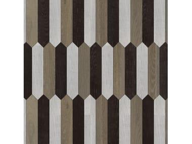 Pavimento/rivestimento intarsiato in legno per interni MODULO SPECIALE MATITA POSA 101