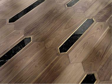 Pavimento/rivestimento intarsiato in legno per interni MODULO SPECIALE MATITA POSA 112