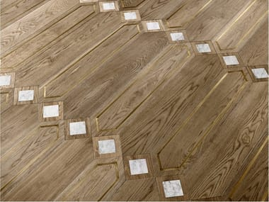 Pavimento/rivestimento intarsiato in legno per interni MODULO SPECIALE MATITA POSA 122