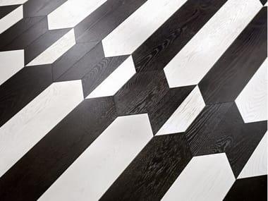 Pavimento/rivestimento intarsiato in legno per interni MODULO SPECIALE MATITA POSA 172