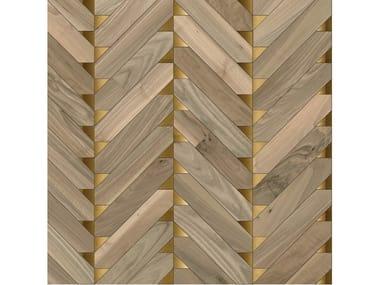 Pavimento/rivestimento intarsiato in legno per interni MODULO SPECIALE MATITA POSA 221