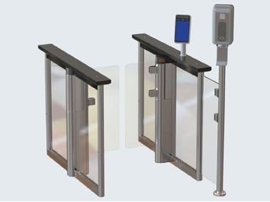 Turnstile with integrated infection control solutions SPEEDSTILE FLS
